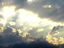 Sky And Clouds With Sun Rays