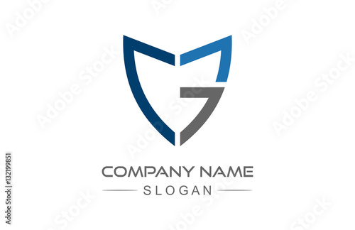 Foto Logo Buchstabe g Schild mit Linie