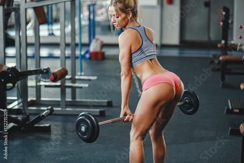 Girl at gym naked