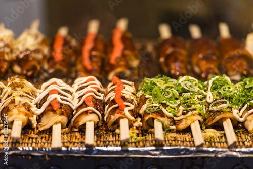 fototapeta na drzwi i meble Japanese street food in Tokyo