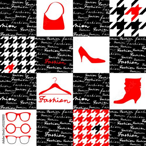Photo  Fashion background with houndstooth pattern