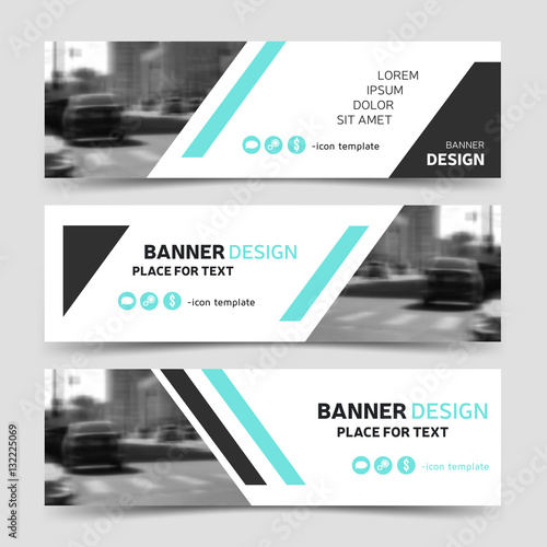 Modern horizontal business banner templates vector corporate modern horizontal business banner templates vector corporate identity design trendy technology background layouts fbccfo Choice Image