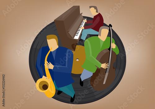 Jazz-Musiker Canvas Print