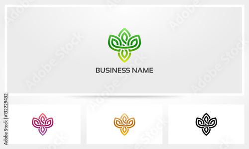 Valokuva  Leaf Floral Logo