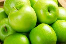 Close-up Apple Background,Green Apple Fruit Background.