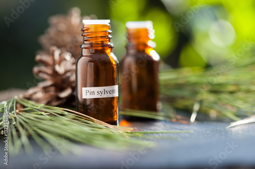 Fotografia, Obraz  huile essentielle de pin sylvestre