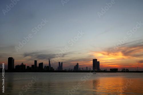 Foto op Plexiglas Antwerpen A beautiful view of Bahrain skyline
