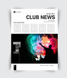Layout page, music magazine, vector