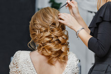 Young Bride Getting Her Hair D...
