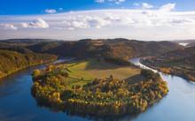 Famous View On Vltava River,  Czech Republic