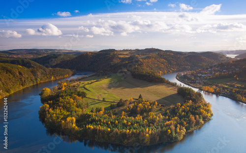 Printed kitchen splashbacks River Famous view on Vltava river, Czech Republic