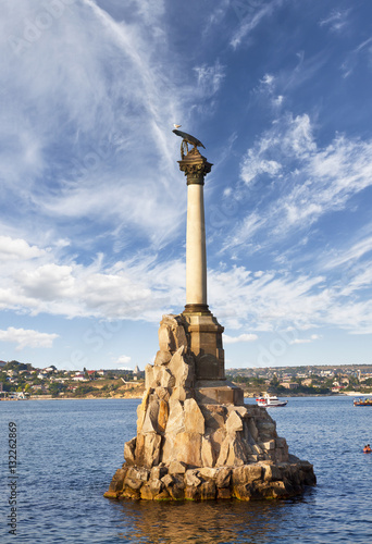 Fototapeta  Monument to the scuttled ships. Sevastopol, Crimea, Russia