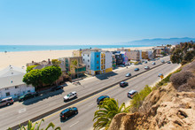 Highway One In Santa Monica - Stock Image