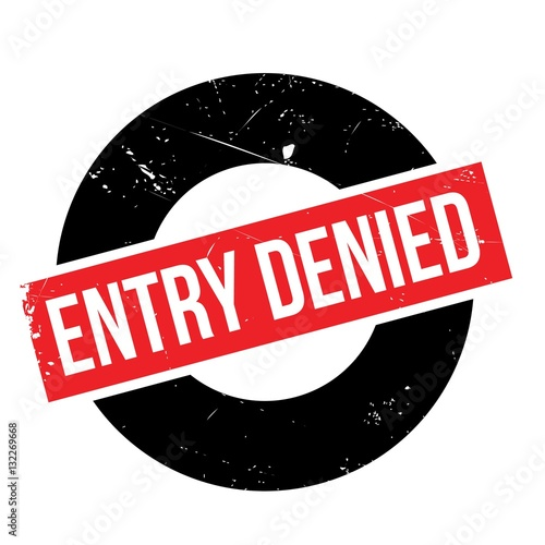 Entry Denied rubber stamp Wallpaper Mural