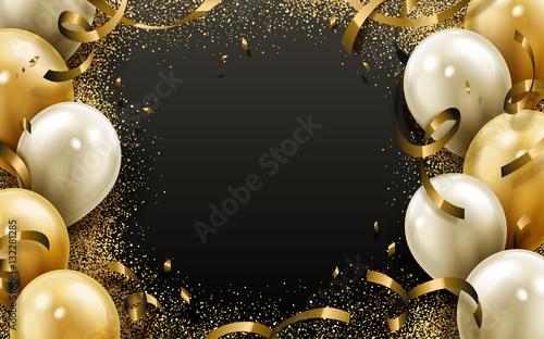 Fotografie, Obraz  party balloon background