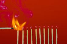 Burning Matchsticks Setting Fi...
