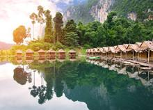 Bamboo House Resort In Ratchaprapha Dam At Khao Sok National Par