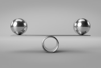 Panel Szklany Podświetlane Do biura Balance Concept