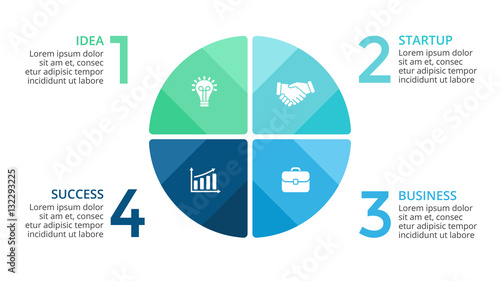 Photographie  Vector circle arrows infographic, cycle diagram, graph, presentation chart