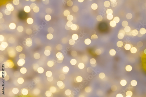Fototapety, obrazy: Defocused small bokeh light background for Christmas and New Year Celebration