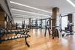 Modern gym interior with equipment.fitness center interior