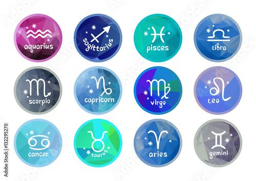 Obraz zodiac signs collection - fototapety do salonu