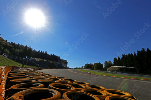 F1 Formula One car on track at Spa Francorchamps