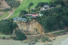 A Landslide Nearly Destroys These Houses In New Zealand