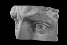 Plaster Fragment Of The Head And Face Of David