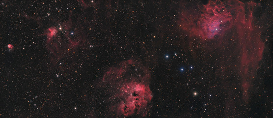 Nebulae in Auriga