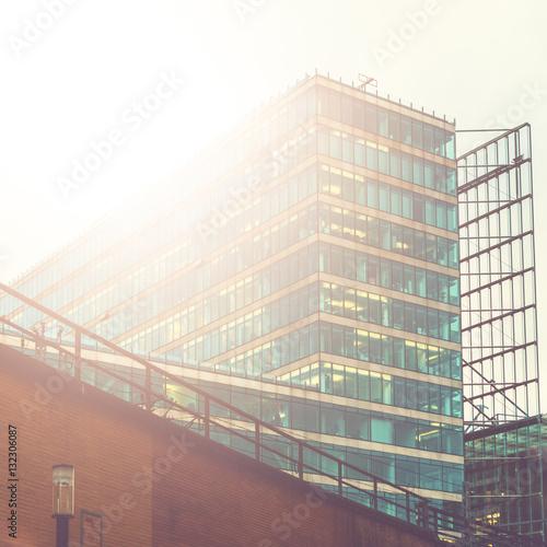 beautiful office buildings. Beautiful Office Buildings In Warm Sunlight