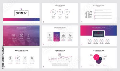 Fototapeta Infographics slide template obraz