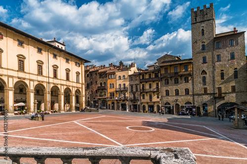 Piazza Grande, Arezzo, Tuscany, Italy Canvas Print