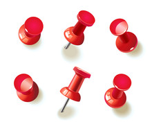 Collection Of Various Red Push...