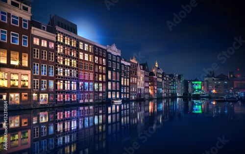 Amsterdam Windows Colors - Netherlands Canvas Print