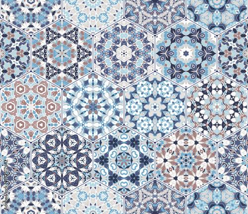 Vector set of hexagonal elements. Fototapete
