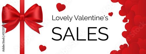 Valokuva  Valentine's sale banner