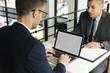 Layerspace Laptop Business Men Restaurant Concept