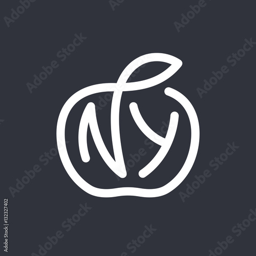 Cuadros en Lienzo  New York City vector typography line art