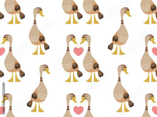 Materiał do szycia Kaczki w jednolity wzór miłości