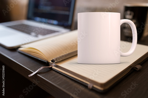 White blank coffee mug to add custom design/quote.