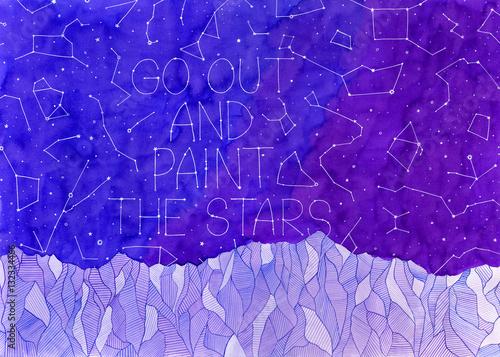 wyjdz-i-pomaluj-gwiazdy-ilustracja-akwarela