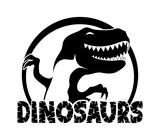 Fototapeta Dinusie - Dinosaurs sign.