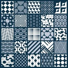 Collection Of Vector Abstract Seamless Compositions, Symmetric O