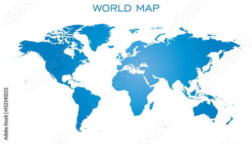Blank blue world map isolated on white background world map vector blank blue world map isolated on white background world map vector template for website gumiabroncs Image collections