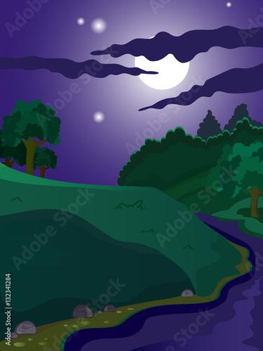 Fototapety, obrazy: Summer vector landscape.