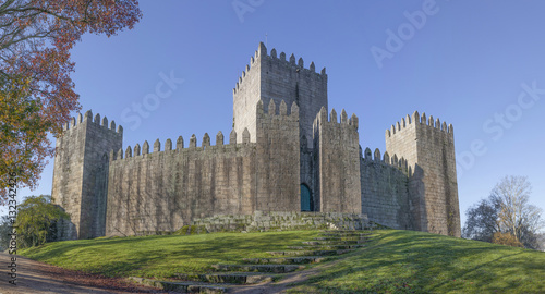 In de dag Noord Europa Panorama of Guimaraes castle, north of Portugal