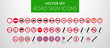 ROAD SIGNS | Znaki Drogowe Zakazu - vector icon PACK vol.1