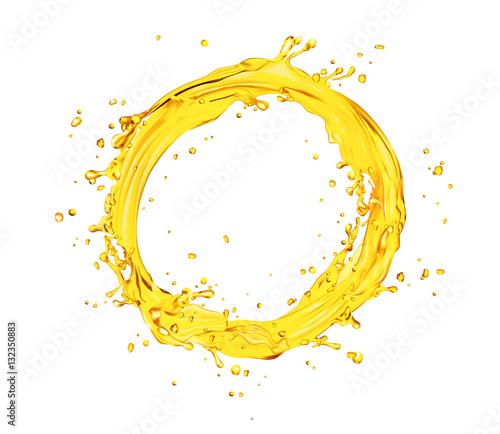 Fotografía vector orange juice splash circle