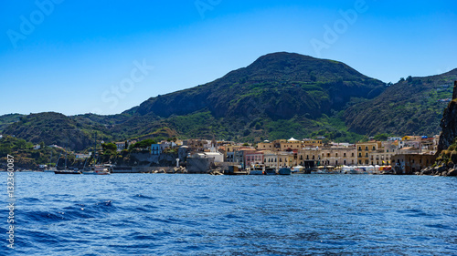 In de dag Stad aan het water Lipari, Port of Lipari